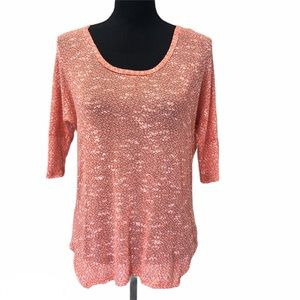 GB GIANNI BINI orange knit dolman top NWT